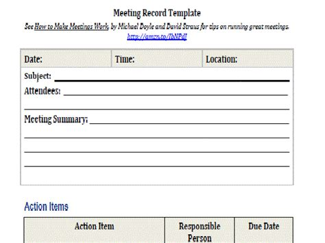 recording meeting minutes template meeting record intelliven