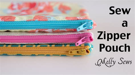 pattern for simple pouch how to sew a zipper pouch youtube