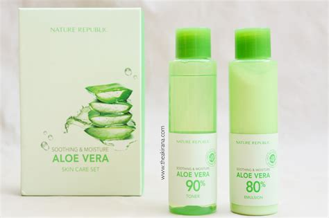 Nature Republic Soothing Moisture Aloe Vera Set takoyaki by thea review nature republic soothing