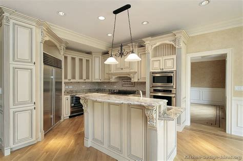 antiqued white kitchen cabinets antique kitchens pictures and design ideas