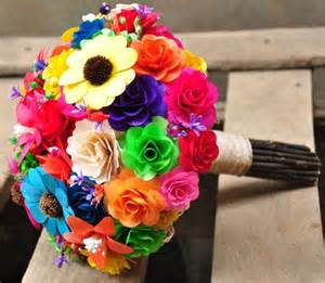 Ferns And Petals Wedding Decorations Rainbow Wooden Flowers Wedding Bouquet And Home Decoration