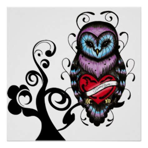 whimsical owl framed artwork zazzle