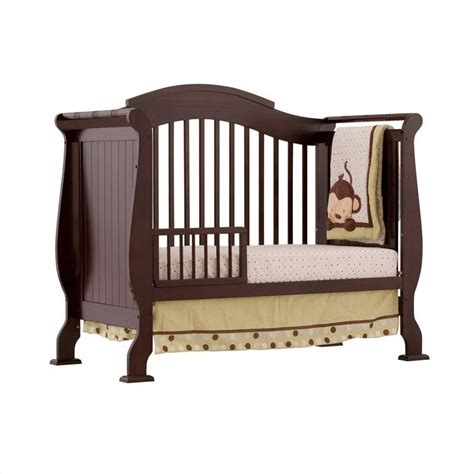 Side Crib by 4 In 1 Fixed Side Convertible Crib In Espresso 04587 259