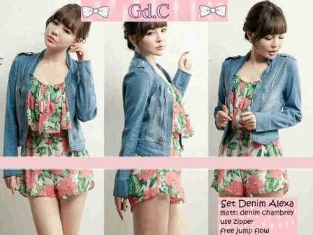 Maxi Denim Rempel denim set js grosir tanah abang baju import murah