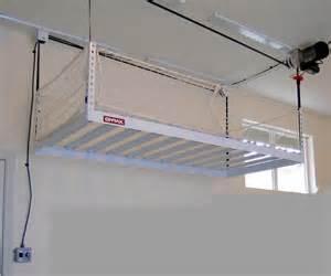 Garage Storage Hoist Platform More Garage Storage Solutions For Specific Needs Encore