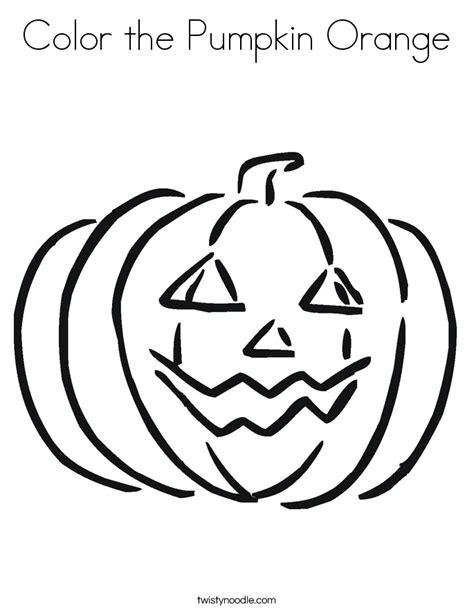 color the pumpkin orange coloring page twisty noodle