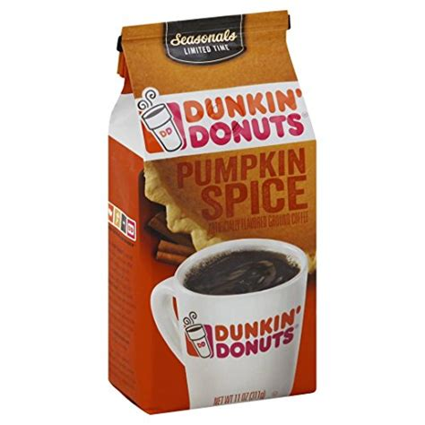 Dunkin Donuts Pumpkin Coffee by Dunkin Donuts Pumpkin Spice Flavored Ground Coffee 11 Oz