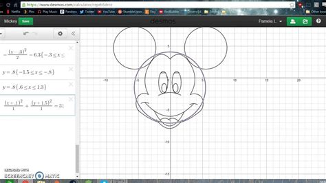 conic sections picture project mickey mouse conics project youtube