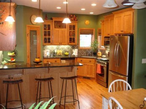 paint color ideas for kitchen with oak cabinets home