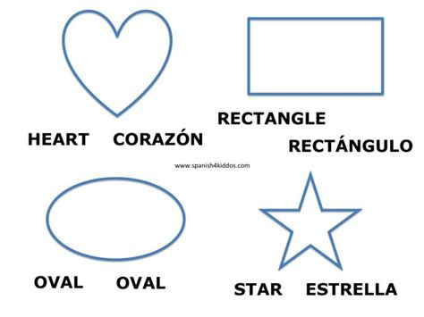 printable shapes in spanish shapes in spanish and english free spanish worksheets