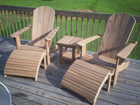 Composite Wood Furniture by Composite Adirondack Furniture Set By Tate Lumberjocks