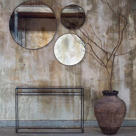 mirror console buy notre monde heavy aged mirror console bronze copper