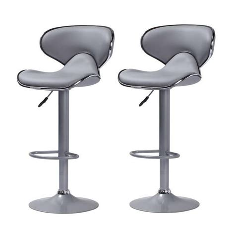 Tabouret De Bar Gris by Lot De 2 Tabourets De Bar Colorado Gris Taupe Achat