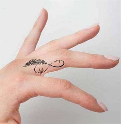 tattoo feather on finger 28 cute feather finger tattoos