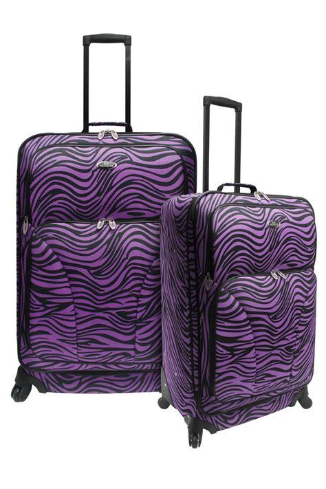 zebra pattern suitcase purple zebra print luggage interesting things