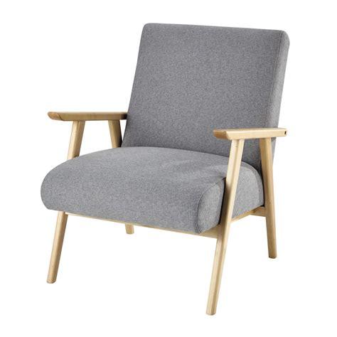 grijze moderne fauteuil fauteuil met grijze bekleding benson maisons du monde