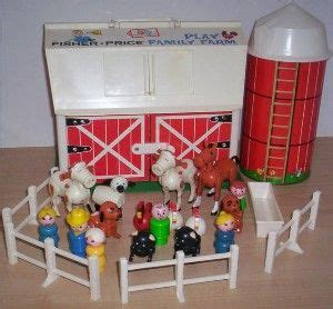 Vintage Fisher Price Family Farm Play Set Barn Silo 1967 Fisher Price Barn Door