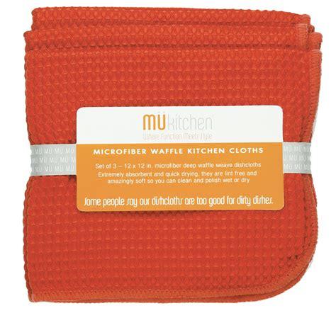 Mu Kitchen by Mu Kitchen 12 Quot X 12 Quot Waffle Microfiber Dishcloth Set Of 3