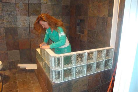 installing glass block windows bathroom installing glass block shower showers pinterest