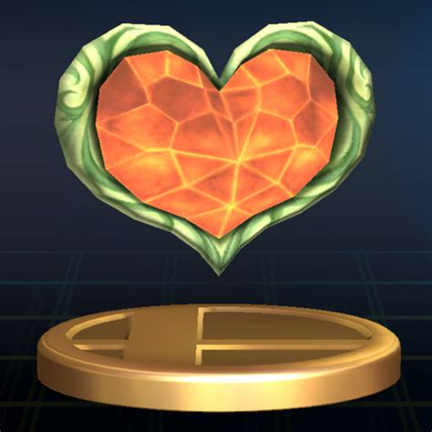 legend of zelda map heart containers image heart container brawl trophy png zeldapedia