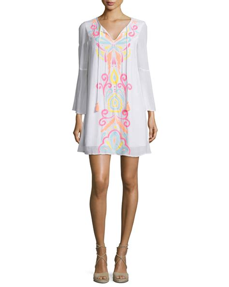 Ellie Tunic lilly pulitzer ellie embroidered tunic dress in white