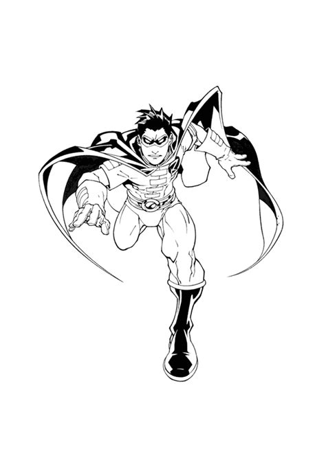 Robin Coloring Pages Superhero Coloring Pages Robin Coloring Pages