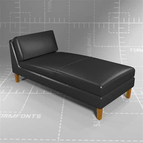 skandinavisk form design karlstad ikea karlstad chaise lounge 3d model formfonts 3d models