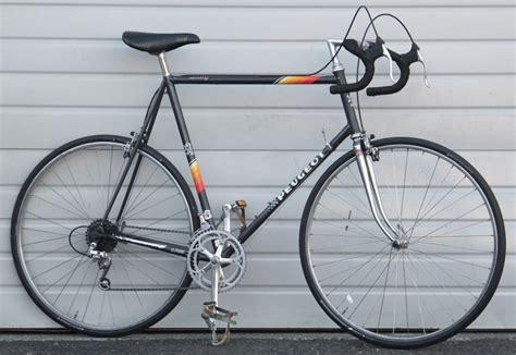 peugeot bicycle prices 64cm vintage peugeot lugged steel 12 speed road bike 6 2