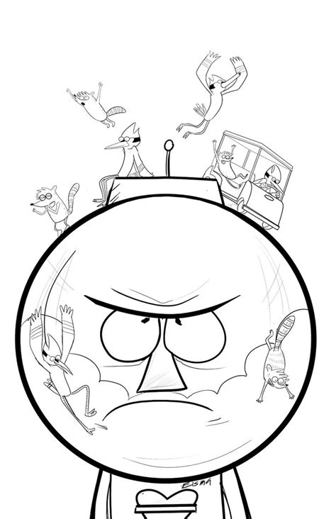 Regular Show Coloring Pages Coloring Home Regular Show Colouring Pages