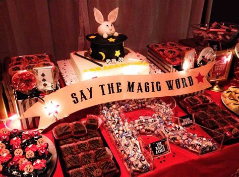 party themes magic magic themed birthday party dessert table candy bar