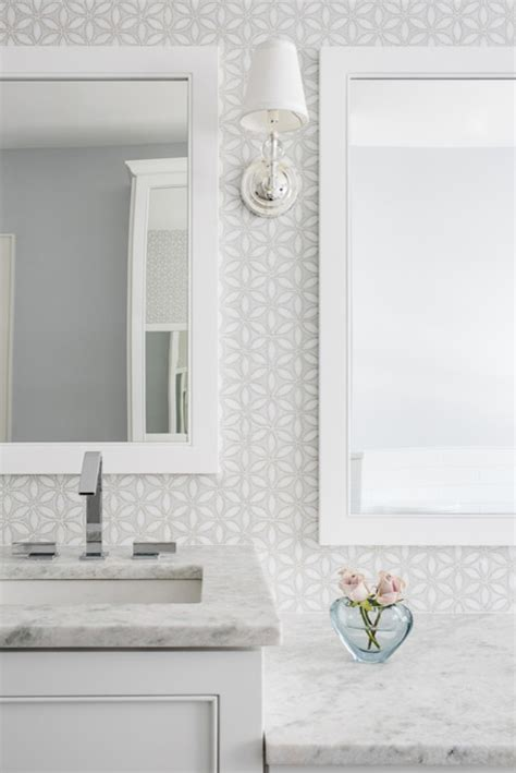 White Mosaic Bathroom Tiles by White And Gray Mosaic Bathroom Wall Tiles Transitional