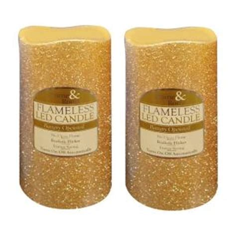 led gold glitter flameless candle 10 in candles home brite star 6 in gold glitter flameless led candles set