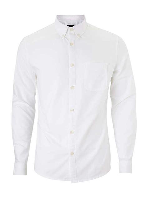 White Shirt by Sleeve White Oxford Shirt Burton Menswear