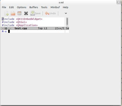 qt5 layout resize emacs embedded in a qt application qt cplusplus