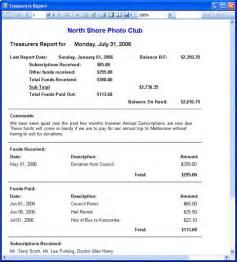 treasurer report template sle resume format for salesman mcgraw homework