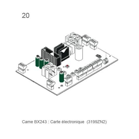 Volet De Porte 2473 by Carte 233 Lectronique Came Bx243 Habitat Automatisme