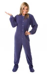 Adult footed pajamas footie drop seat mens womens pjs soft new ebay