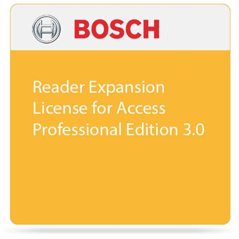bosch reader expansion license for access f 01u 298 463 b h