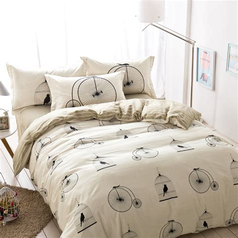 modern bed sets queen birdcage striped leaves bedding sets queen size cheap pure