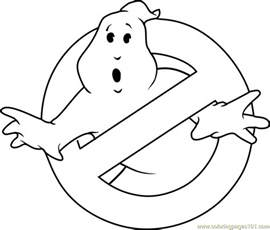 ghostbusters coloring pages ghostbusters logo coloring page free ghostbusters