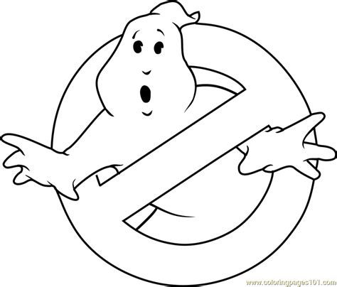 ghostbusters coloring pages printable ghostbusters logo coloring page free ghostbusters