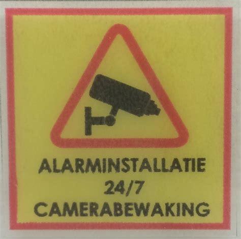 Sticker Camerabewaking Bestellen by Camerabewaking Stickers Borden 4 Stickers Enzo Nl