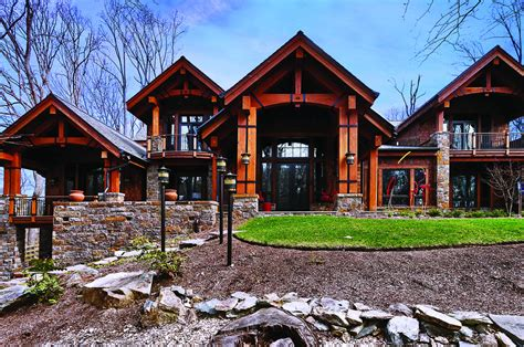 amazing wooden and mountain style home designs