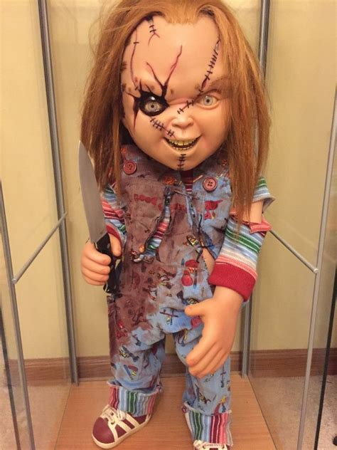 chucky movie replica sideshow chucky life size doll 1 1 prop replica seed of