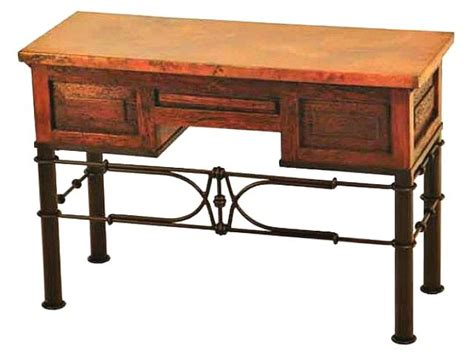 wrought iron computer desk 3 drawer writing desk with wrought iron base artisan