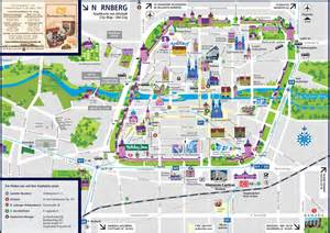 Nuremberg Germany Map by N 252 Rnberg Sightseeing Map