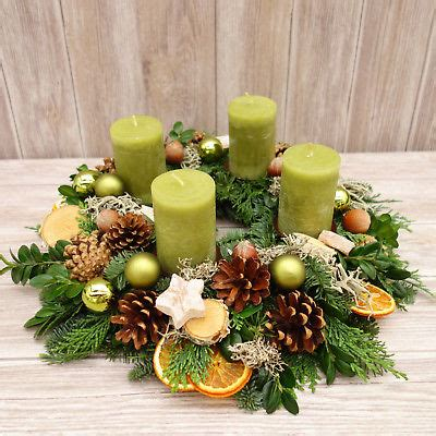 weihnachtsdekoration natur adventskranz adventskr 196 nze weihnachtsdeko adventsgesteck