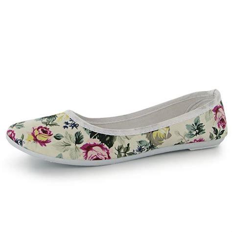 floral print flat shoes miss fiori womens floral print ballet pumps canvas