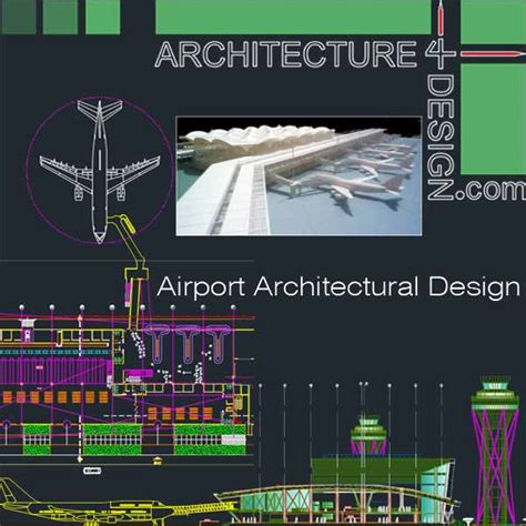 Architecture Design Concept In Autocad Airport Architecture Design A Collection Of 6 Airport