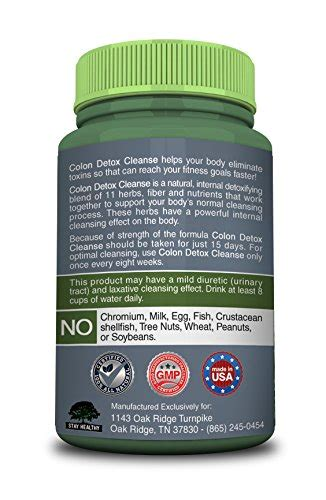 Fda Approved Detox Cleanses by Colon Cleanse Pro Detox Digestive System Flush Lose